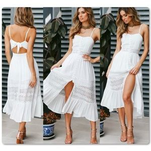 RE-STOCK COMING! White Boho Style Maxi Sun Dress